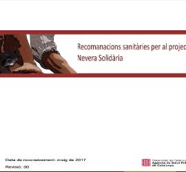 Recomanacions sanitàries per al projecte Nevera Solidària