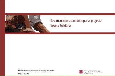 Recomendaciones sanitarias para el proyecto Nevera Solidaria