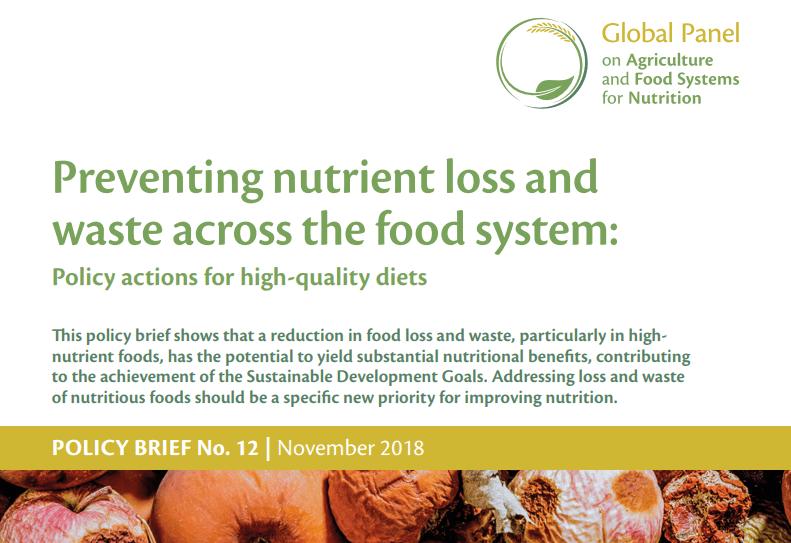 Guia per a la prevenció de la pèrdua i el malbaratament alimentari i la promoció d'una alimentació de qualitat