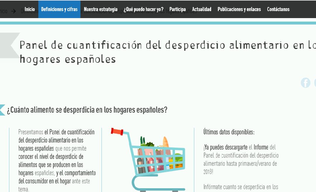 Panel de quantificació del malbaratament alimentari a les llars espanyoles