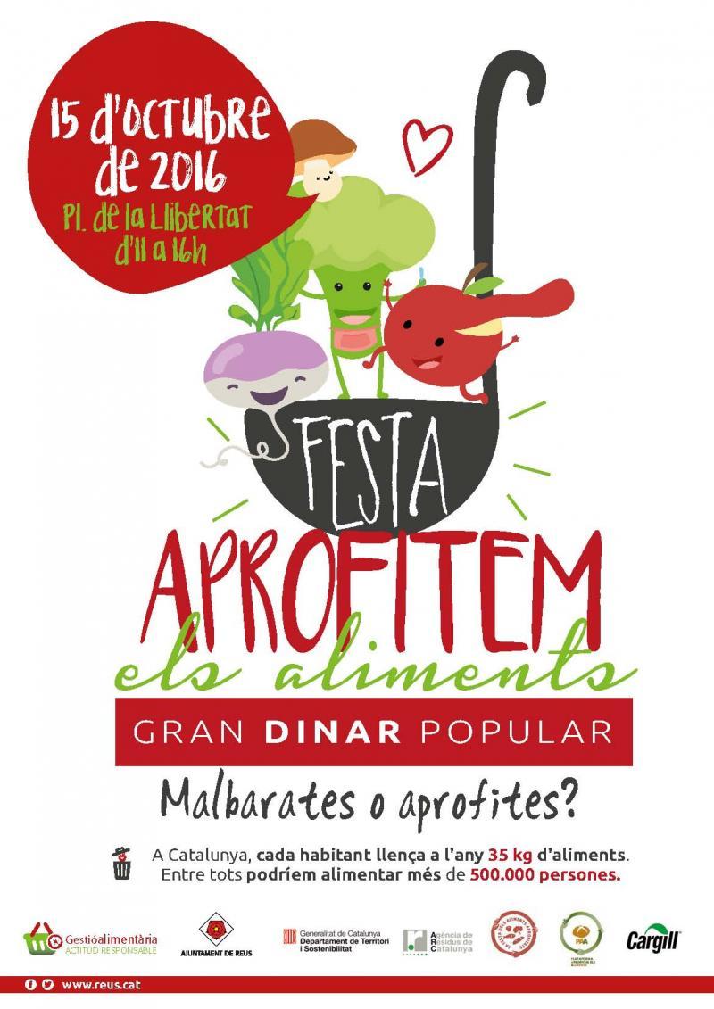 15 d'octubre: la Festa Aprofitem els Aliments a Reus