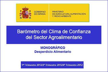 Estudi monogràfic sobre el malbaratament alimentari del Baròmetre del Clima de confiança del sector agroalimentari